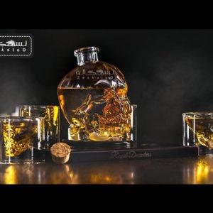 بطری شیشه ای طرح اسکلت