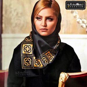 روسری ساتن مشکی