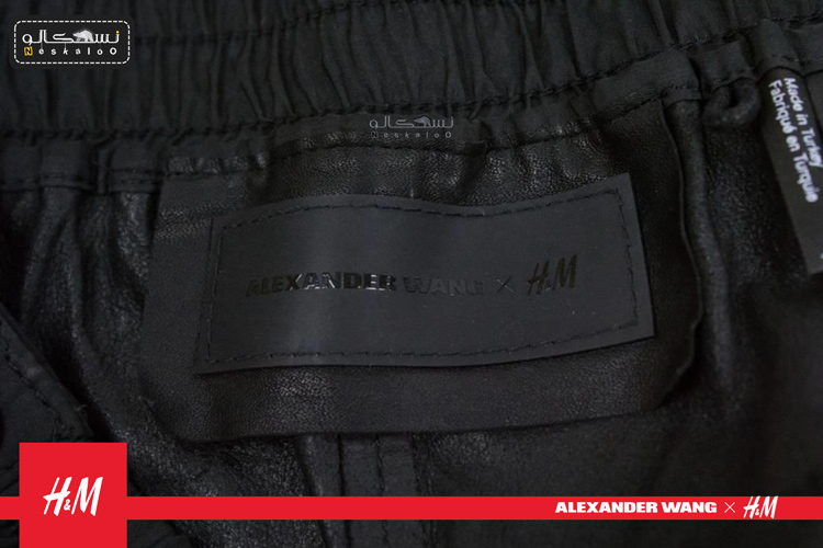 شلوار چرم مشکی دکمه دار H&M