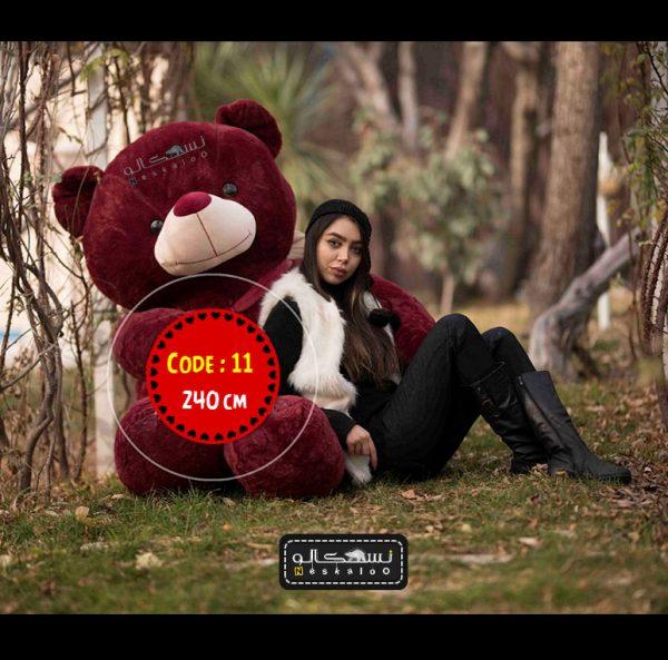 عروسک خرس ولنتاین سایز بزرگ-۱۱