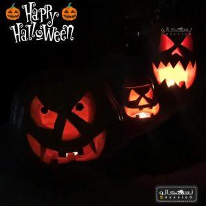 کدو هالووین تزیین شده آماده
