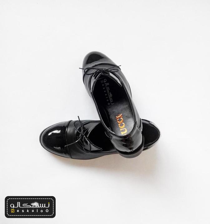 کفش چرم ورنی زنانه