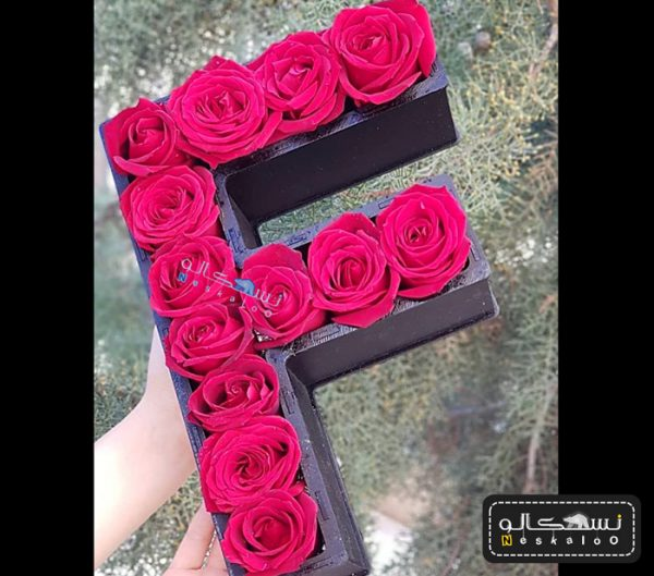 گل رز حروف انگلیسی-۶