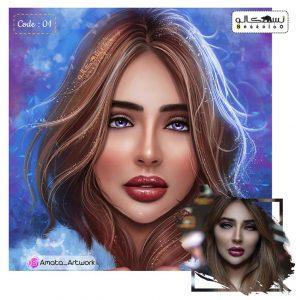 سفارش تابلو نقاشی چهره