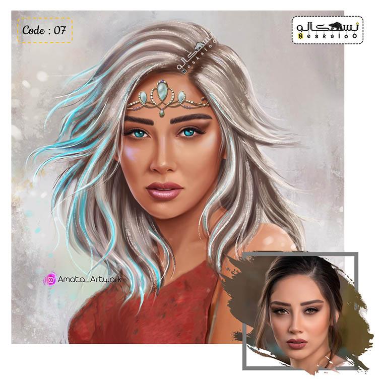 سفارش تابلو نقاشی چهره آماتا