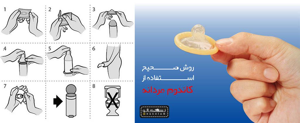 روش استفاده کاندوم
