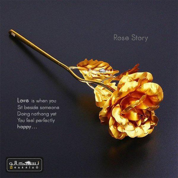 گل رز طلایی rose story با تخفیف